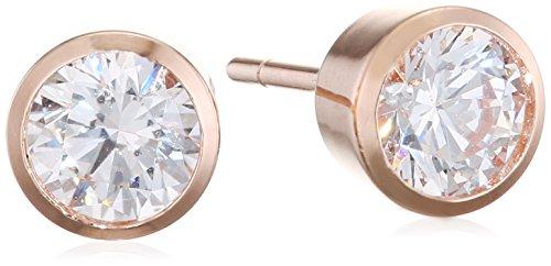 Carissima Gold Pendientes de botón Mujer oro rosa 9 k (375) circonita redonda - 5.59.0499