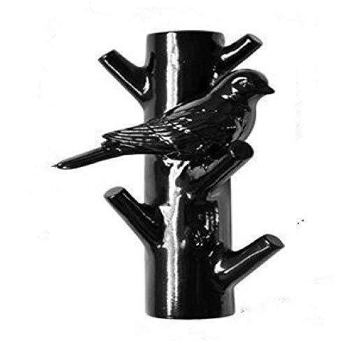 Gymqian Estatuas Pájaro Y Tronco Colgando Ganchos Decorativos Bionic Hight-Grado Birdie Resina Artesanía Casa Pared Decorativo Escultura Decorativos fuerte