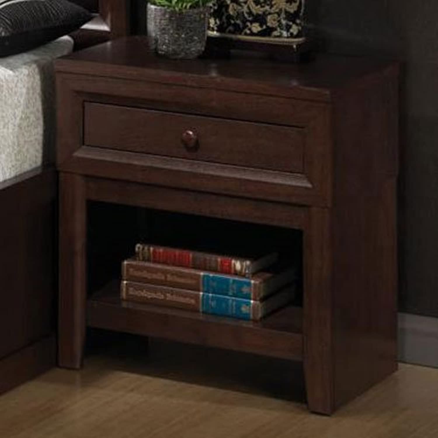Coaster Home Furnishings 202312 Casual Contemporary Nightstand, Cherry