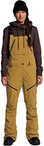 Volcom Elm Gore Tex Bib Overall Snowboard Pants Womens Sz S Burnt Khaki product image