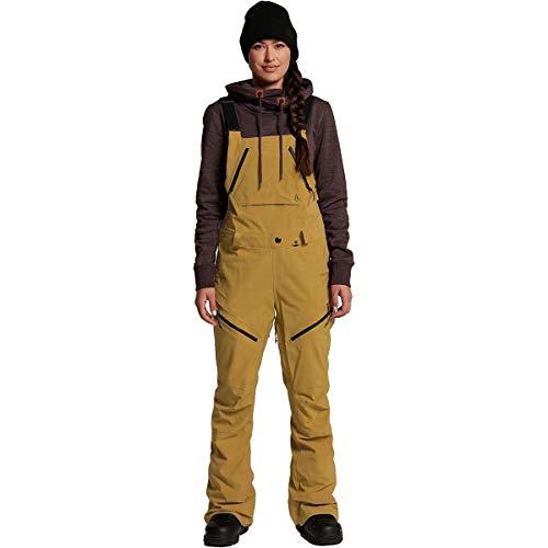 Volcom Elm Gore-Tex Bib Overall Snowboard Pants Womens Sz S Burnt Khaki