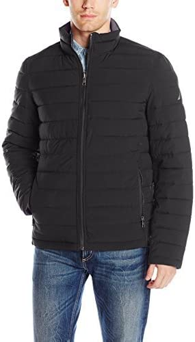 Nautica Men's Poly Stretch Reversible Midweight Puffer Jacket
