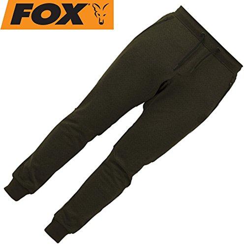 Fox Chunk Dark Olive Joggers - Anglerhose für Karpfenangler, Jogginghose für Angler, Angelhose, Sporthose, Größe:L