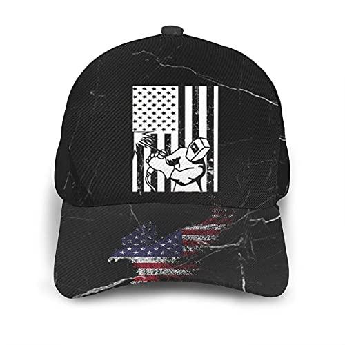 485 Baseball Cap Soldador De Bandera Americana Gorra Deportiva Retro Sombrero Deportivo para Corriendo Cámping Regalos