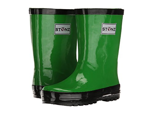 Stonz Natural Rubber Rain Boot (Toddler/Little Kid/Big Kid), Green, 4T