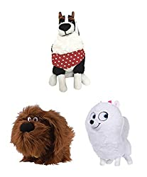 """Officially Licensed Gift Quality Plush Set Approx Size on average is 25cm 10"""" Tall Super Soft Gift Quality Plush with Embroidered Features for appearance and longevity Great Value Set Save £££'s on single unit price Perfect for any Secret Life Of Pet..."""