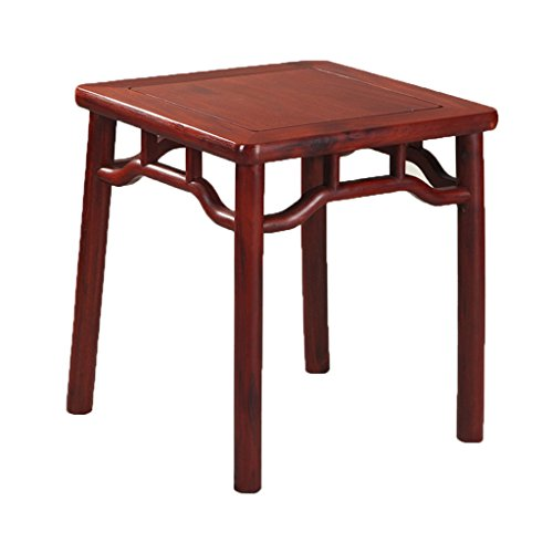 Tabouret de meubles en acajou petite table carrée en bois massif bois massif branches banc tables (Color : Black, Size : 43 * 43 * 47cm)