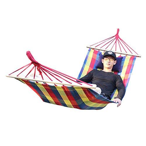 Hamacs Jardin et Patio Simple Extérieur en Toile Confortable Portable À Balançoire De Jardin Multifonction, Charge D'environ 120 Kg (Color : Red, Size : 200 * 80cm)