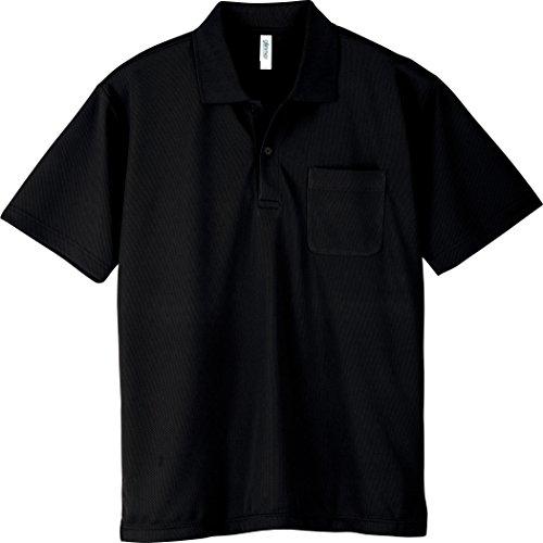 [グリマー] 半袖 4.4オンス ドライ ポロシャツ [ポケット付] 00330-AVP ブラック L (日本サイズL相当)