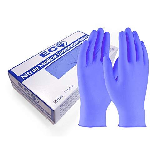 Eco Medi-Glove Puderfreie Nitrilhandschuhe - Packung mit 100 beidhändig wirkenden medizinischen Einweg-Untersuchungshandschuhen (Stärke: 3.2gm, Mittel)