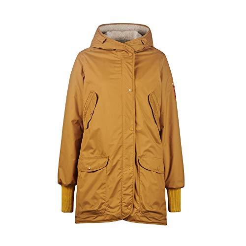 Finside W Suomukka Beige-Gelb, Damen Regenmantel, Größe 42 - Farbe Cinnamon - Pebble