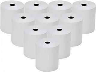 10x Thermorollen 57mm x 12mm x 26m Bonrollen Thermopapier Additionsrollen, Ersatz-Papierrollen, Kassenrollen
