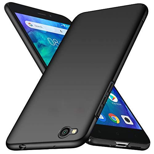 TopACE Funda para Teléfono Xiaomi redmi go Carcasa Dura Mate Ultrafina Xiaomi redmigo Funda Protectora a Prueba de Caídas Simple y Ligera Adecuado para Xiaomi redmi go (Negro)