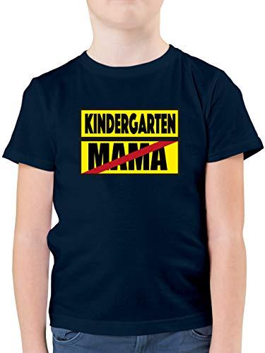 Kindergarten - Kindergarten Schild Mama - 104 (3/4 Jahre) - Dunkelblau - Verbotsschild - F130K - Kinder Tshirts und T-Shirt für Jungen