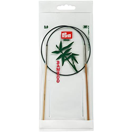 Prym 221514 Rundstricknadeln, 60 cm, 3,00 mm Rundstricknadel, Bambus, Natur, 3 mm
