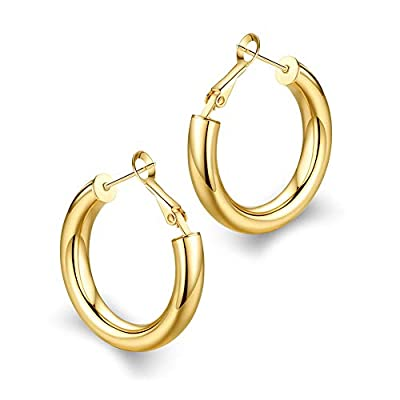 wowshow Small Chunky Thick Good Tube Hoops Earrings for Women