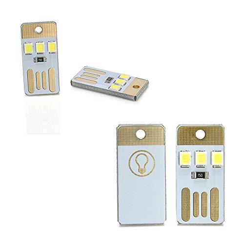 zNLIgHT Eletronic Digitale Componenten | 2 Stks Mini Draagbare Heldere Wit LED Nachtlampje USB Lamp voor PC Laptop Lezen OneSize Onecolor