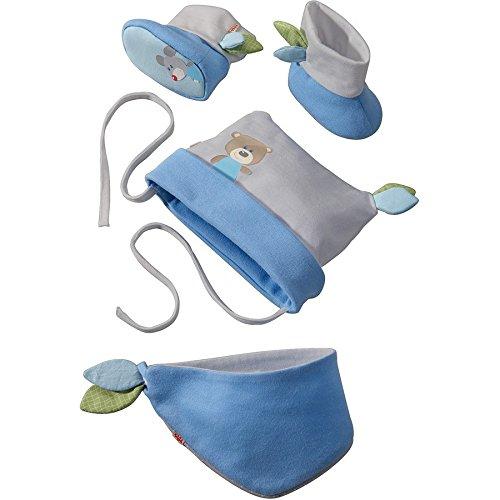 Haba Selection 7165 Babyset Kuschelfreunde, blau