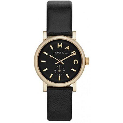 Marc by Marc Jacobs Baker - Reloj (Reloj de pulsera, Femenino, Oro, Cuero, Negro, Transparente)
