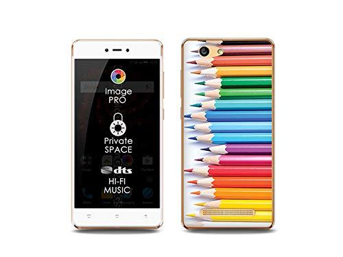 etuo Handyhülle für Allview X3 Soul Lite - Hülle, Silikon, Gummi Schutzhülle Foto Case - Buntstifte