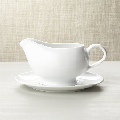 Gravy Boat with Saucer + Reviews | Crate and Barrel