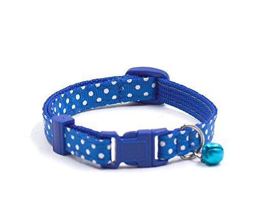 UEETEK Gatto sveglio regolabile collare collana con Bell fantasia gattino (blu)