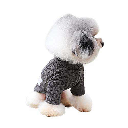 PanDaDa Cozy and Comfortable Dog Sweater Jumper Knitwear for Autumn and Winter, Warm Pet Dog Knitting Clothes Double Braided Warm Dog Turtleneck Sweater for Small Medium Large Dogs