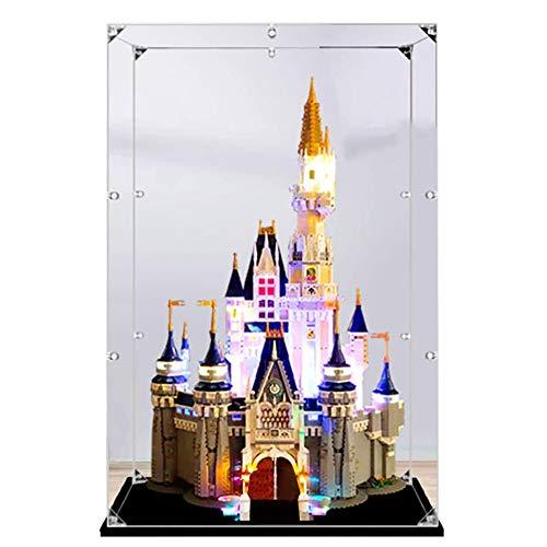 LODIY Vitrine Schaukasten für Lego 71040 Disney Schloss - 2mm Acryl Vitrine (NUR Vitrine, Nicht Enthalten Lego Modell)