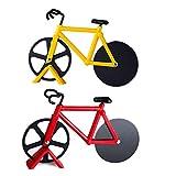 MoYouno Paquet de 2 Coupe-Pizza, Coupe-Pizza de vélo, trancheuse à Pizza de Roue de vélo de nouveauté, Coupe-Pizza en Acier...