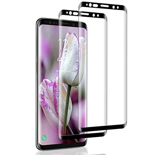 IceboyHHH 2 pièces Verre Trempé pour Samsung Galaxy S9 Plus, Haute Qualité 3D Incurvé Couverture Complète, Dureté 9H, Sans Bulles, Film de Protection d'Écran pour Samsung Galaxy S9 Plus