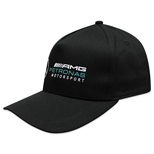 Mercedes AMG Petronas, berretto della stagione 2018, abbigliamento per fan, prodotto con licenza ufficiale, di colore nero