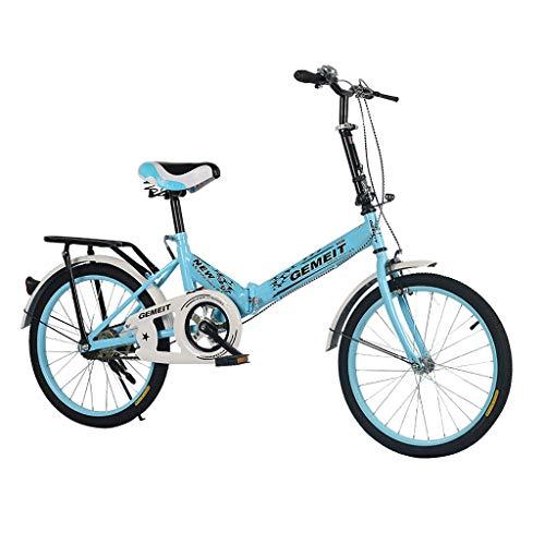 URSING 20 Zoll Klapprad Faltrad Mountainbikes Nabenschaltung Leichte Stoßdämpfung Geschwindigkeit Klappfahrrad Folding Bike Liegeräder (3- Blau)