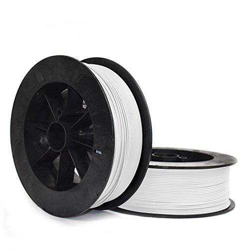 Ninjatek 3dch00129020Ninjatek Cheetah TPU Filament, 3.00mm, TPE, 10655CC, Snow (Blanc) (lot de 1)