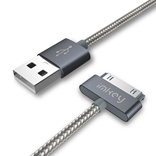imkey Apple Certified 6.5 Feet 30-Pin to USB Sync and Charging, Gray, Size 6.5