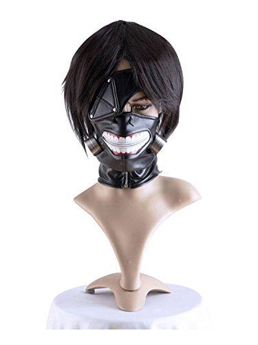 COSPLAZA Tokyo Ghoul Maske Ken Kaneki Fasching Karneval Party Schwarz Kostüme Masken