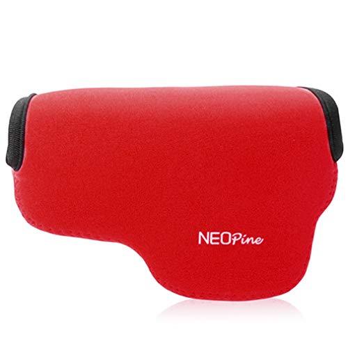 Rojo Funda Camara de Fotos Digital Camara Reflex Neopreno Estuche para Olympus Pen E-PL10 E-PL9 E-PL8 E-PL7 (14-42mm Lens)