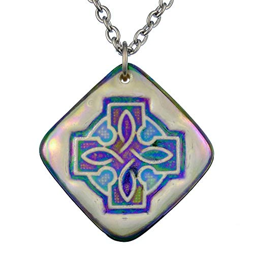 Celtic Knot Pendant Necklace - Hand-painted Porcelain Mother's Day Gift