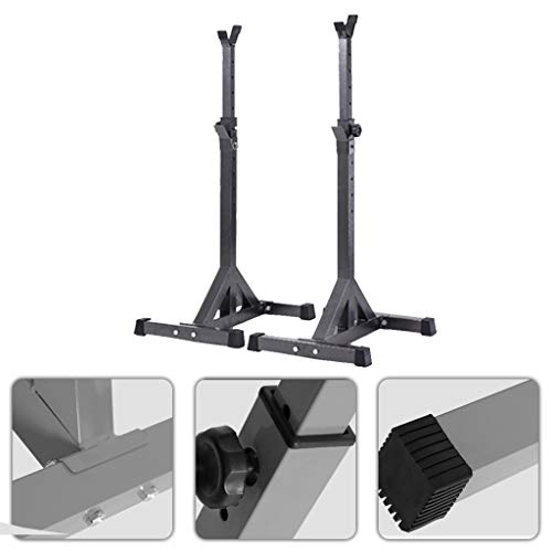 Squat Rack Fitness e Palestra Rack Squat per Uso Domestico Rack da Banco Regolabile Bilanciere Attrezzo Fitness Rack da Squat Multifunzione Rack da Banco può Gabbia per Lo Squat