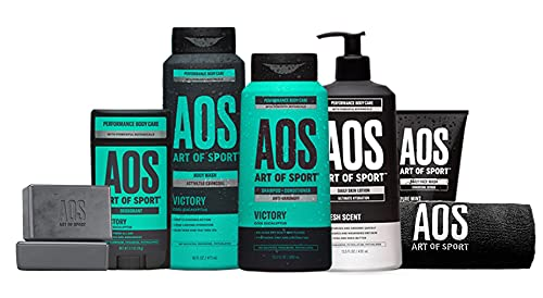 Product Image of the Art of Sport Total Routine Kit - Gift Set for Gym, Shower, College - 7pc Men's...