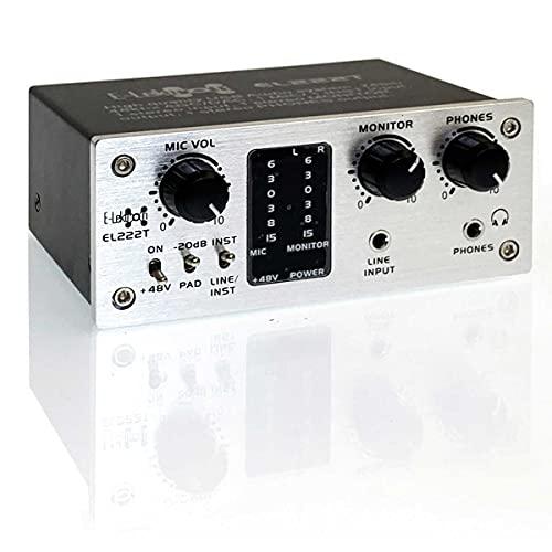 E-Lektron EL222T 2-Kanal USB Audio-Interface   24Bit/48kHz   Class-A Pre-Amp   Phantom   20dB zusätzlicher Headroom