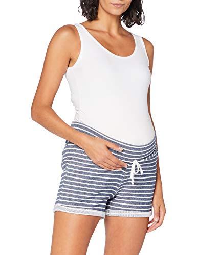 ESPRIT Maternity Damen Shorts Jersey UTB yd Umstandsshorts, Mehrfarbig (Off White 110), 38 (Herstellergröße: M)