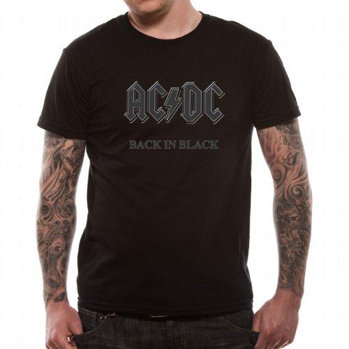 AC/DC - Back IN Black, T-Shirt, X Large (Gr. XL) Guys Tee
