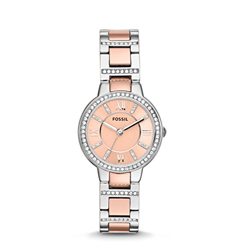 Fossil Women's Analog Quartz Watch with Stainless Steel Strap ES3405