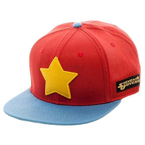 Animation Shops Steven Universe Star Logo Snapback Hat-One Size Red/Blue