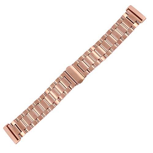 Watch Strap Compatible with Fitbit Versa 3/Sense Stylish Metal Wrist Watch Replacement Strap