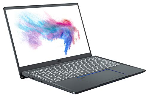 MSI Prestige 14 A10SC-010 (35,6 cm/14 Zoll/Full-HD/100% sRGB) Creator Laptop (Intel Core i7-10710U, 16GB RAM, 512GB PCIe SSD, Nvidia GeForce GTX1650 4GB, Windows 10) Carbon-Grau