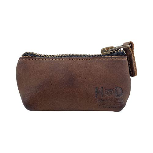 Hide & Drink, Leather Key Holder Pouch, Zippered Coin Bag, Money Purse, Earphone Holder, Charging...