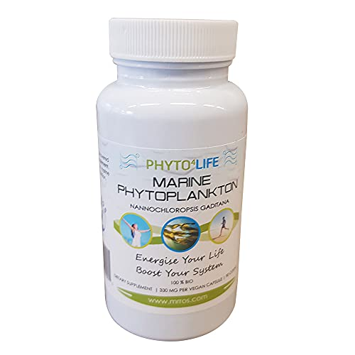 Mr. Ros Marine Phytoplankton Energy Supplements - All in One Nutritional Supplements - Superfood Capsules Vitamin Supplements - Natural Energy Supplement - Superfood Capsules - 90 Pill Capsules