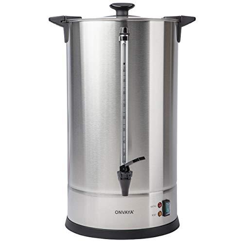 ONVAYA® Cafetera de filtro de gastro 15L | Dispensador de café para grandes cantidades | Cafetera industrial | Cafetera con elemento calefactor