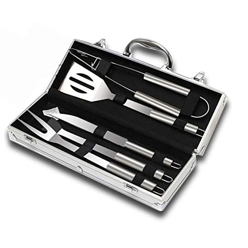 Save %23 Now! Lokkvi Barbecue Tool Set 5PCS BBQ Grilling Accessories Grill Tools Stainless Steel Gri...
